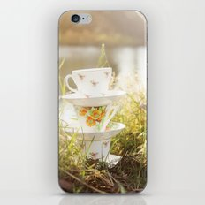 Three lonely teacups iPhone Skin