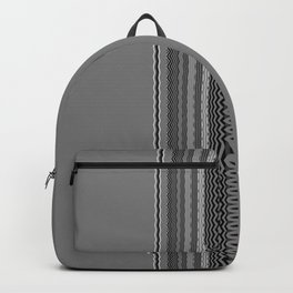 Gray Stripes Abstract Backpack