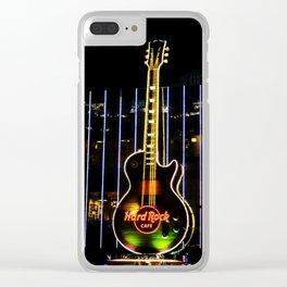 Hard Rock Guitar Clear iPhone Case