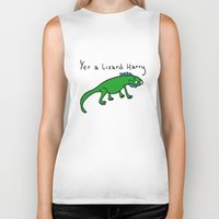 witchcraft Biker Tanks featuring Witchcraft and Lizardry by fantasticmistersmith