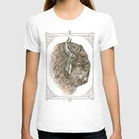 buffalo T-shirts featuring Buffalo Portrait by Rachel Caldwell