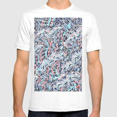 black topography Mens Fitted Tee MEDIUM White