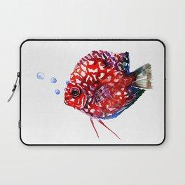 Scarlet Red Discus Laptop Sleeve