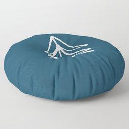 Pacific Northwest Evergreen   In Indigo Floor Pillow