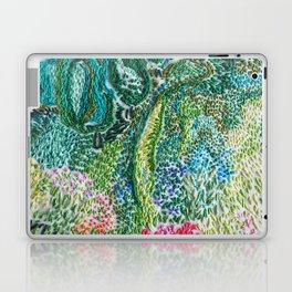 cheerful handmade embroidery in the digital world Laptop & iPad Skin