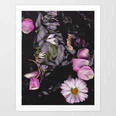 Black/Pink Art Print
