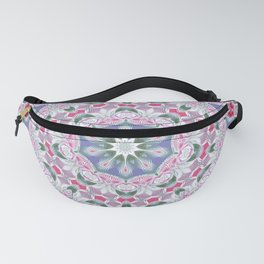 Country Lace Style Kaleidoscope Pattern Fanny Pack