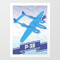 P-38 Lightning Art Print