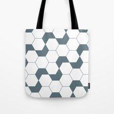 Slate gray hexagon pattern Tote Bag