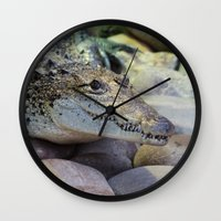 crocodile Wall Clocks featuring Crocodile by PICSL8