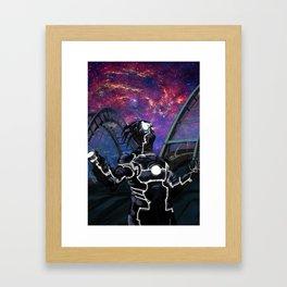 Alien Dude Looking at the Sky Framed Art Print