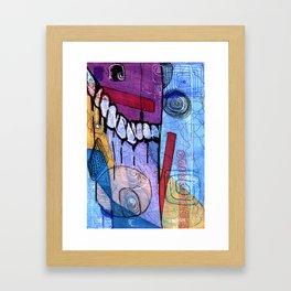 Open Abstract 3 Framed Art Print