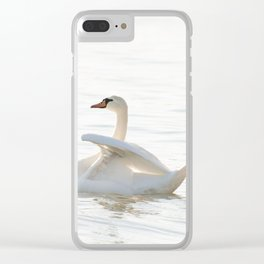 White swan Cygnus Clear iPhone Case