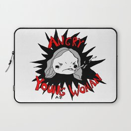 angry young woman Laptop Sleeve