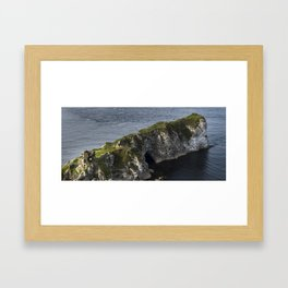 Kinbane Castle Framed Art Print