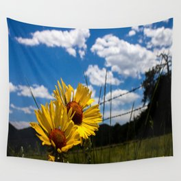 A Rocky Mountain Sunflower Wall Tapestry