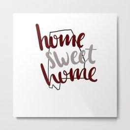 Home Sweet Home Alabama Metal Print