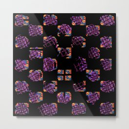 Square and flowers Metal Print