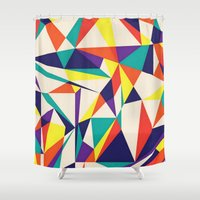 games Shower Curtains featuring Love Games by Anai Greog