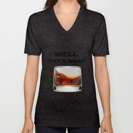 whiskey  whiskey and Bourbon alcohol drinkers lover gift Unisex V-Neck