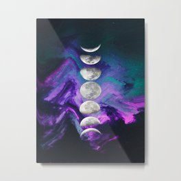Hey Moon Metal Print