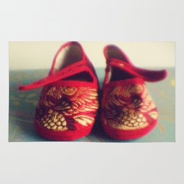 Two red shoes Rug