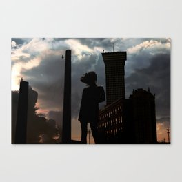 the edge of world's end. Canvas Print