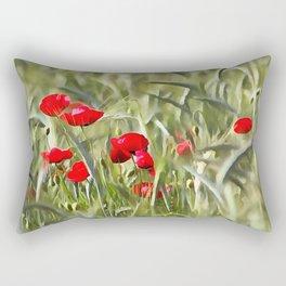 Corn Poppies Rectangular Pillow