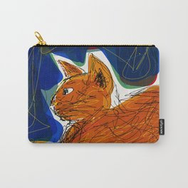Socca Ginger Cat Art Carry-All Pouch