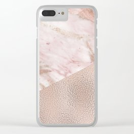 Gently golden - rose gold adorns Clear iPhone Case