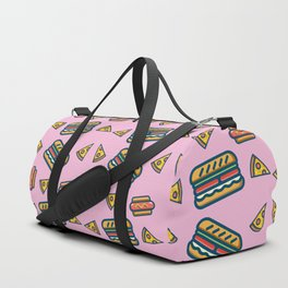 fast food pink Duffle Bag
