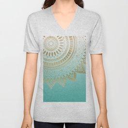 Pretty hand drawn tribal mandala elegant design Unisex V-Neck