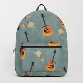 Guitars and Cowboy Hats Pattern Backpack