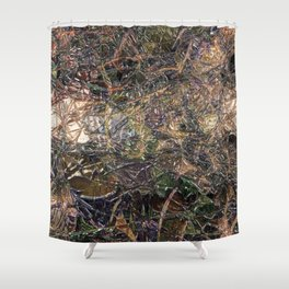 Abstract material shinny surface texture pattern digital illustration concept design graphic style b Shower Curtain
