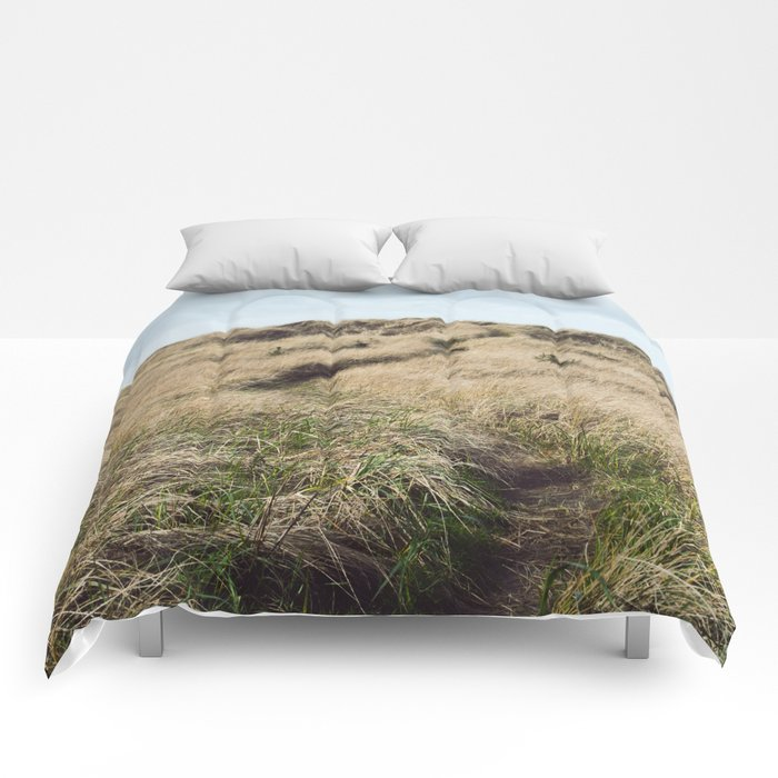 Oregon Dune Grass Adventure - Nature Photography Comforters