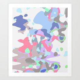 Candy Camo Blobs Art Print
