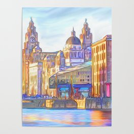 World famous Three Graces (Digital painting) Poster