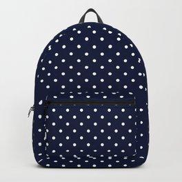 Domino dots indigo and white Backpack