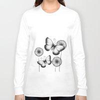 butterflies Long Sleeve T-shirts featuring Butterflies by LouJah