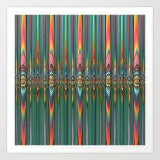 Mirrored Flames Art Print