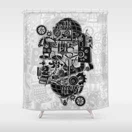 Hungry Gears (negative) Shower Curtain