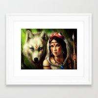 """princess mononoke Framed Art Prints featuring """"Princess Mononoke"""" by PeeGeeArts"""