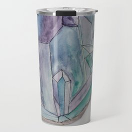 Amethyst Crystal Printable Wall Art, Digital Print, Digital Download, Gift for Mom Travel Mug
