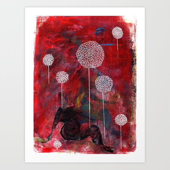 Chrysanthemum Two Art Print