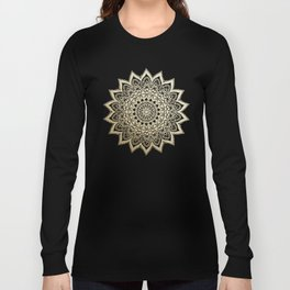 BOHO NIGHTS GOLD MANDALA Long Sleeve T-shirt