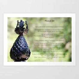 Psalm 23 Art Print