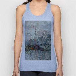 "Claude Monet ""View of the Prins Hendrikkade and the Kromme Waal in Amsterdam"" Unisex Tank Top"