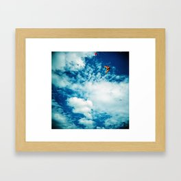 Clouds and Kites Framed Art Print