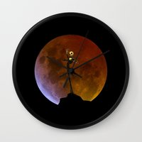 jack skellington Wall Clocks featuring NIGHTMARE JACK SKELLINGTON by alexa