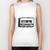 cassette Biker Tanks featuring cassette by Gabriel